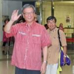 【予定通り平行線】賛成派翁長沖縄知事、訪米バカンスを終え笑顔で帰国。辺野古反対「伝わった」