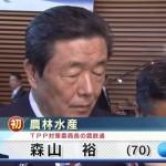 初入閣 森山裕農林水産大臣「TPP交渉をすることは反対だったが、TPP反対の態度ではない」と早速、意味不明発言。天皇の手先安倍に忠誠誓う。